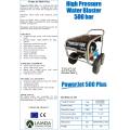 Lamda-CS Powerjet 500 Plus Professional high pressure water blaster machine 500 bar / 18 lpm